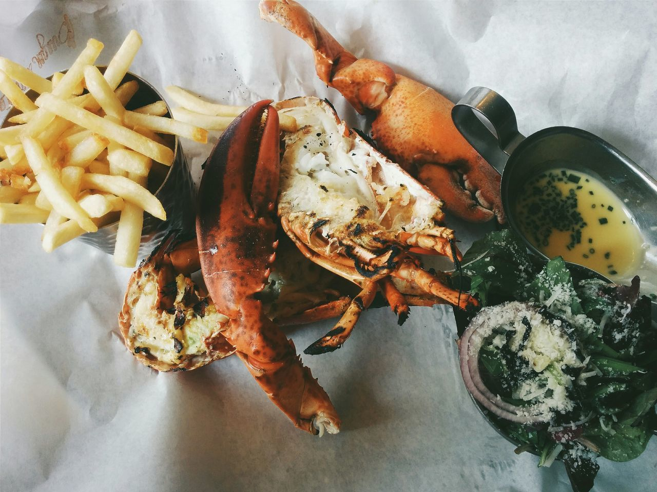 Beautiful stock photos of lobster, , French Fries, Indoors, Meal
