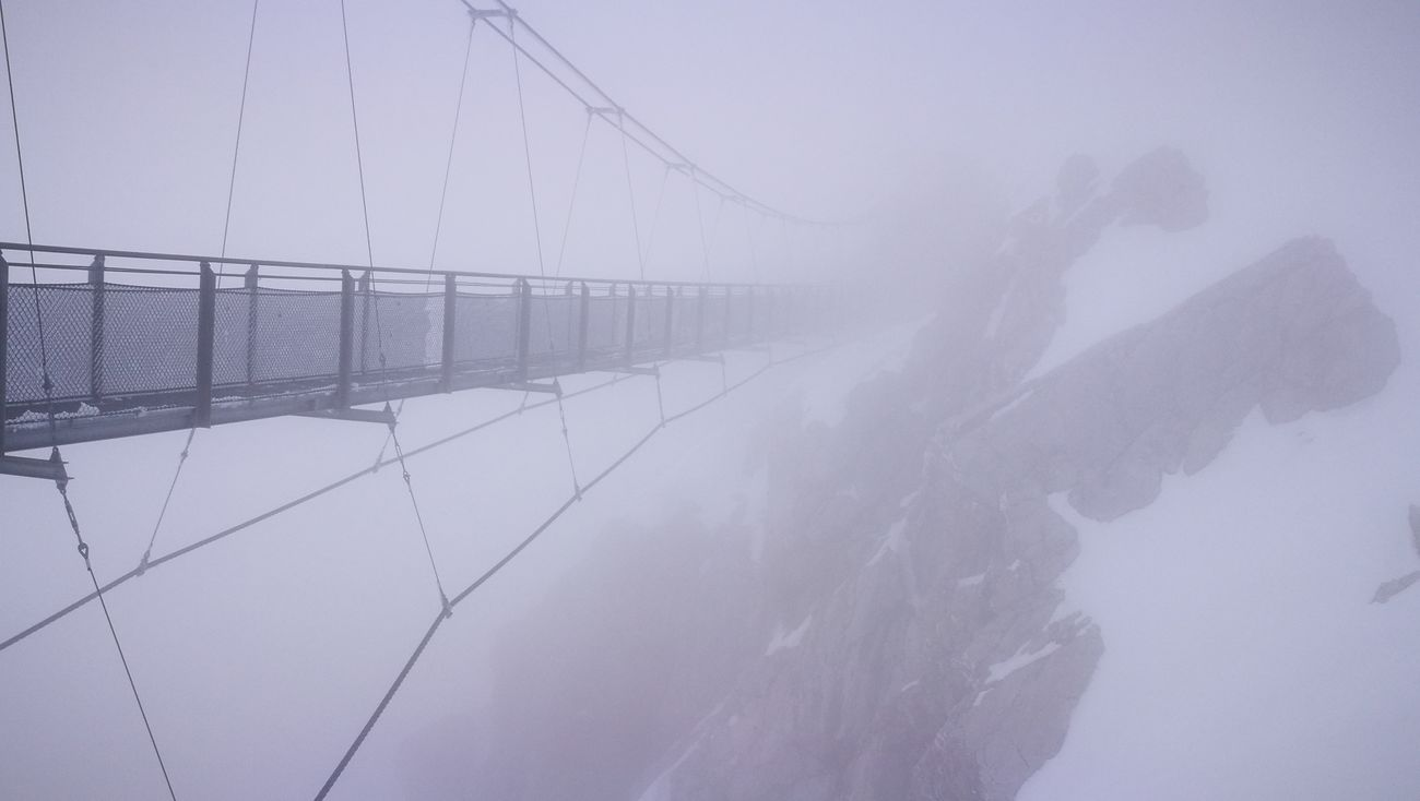 Outdoors No People Fog Nature Sky Day Bridges Cloud - Sky Nature Dachstein Mountain Cold Temperature Winter Snow