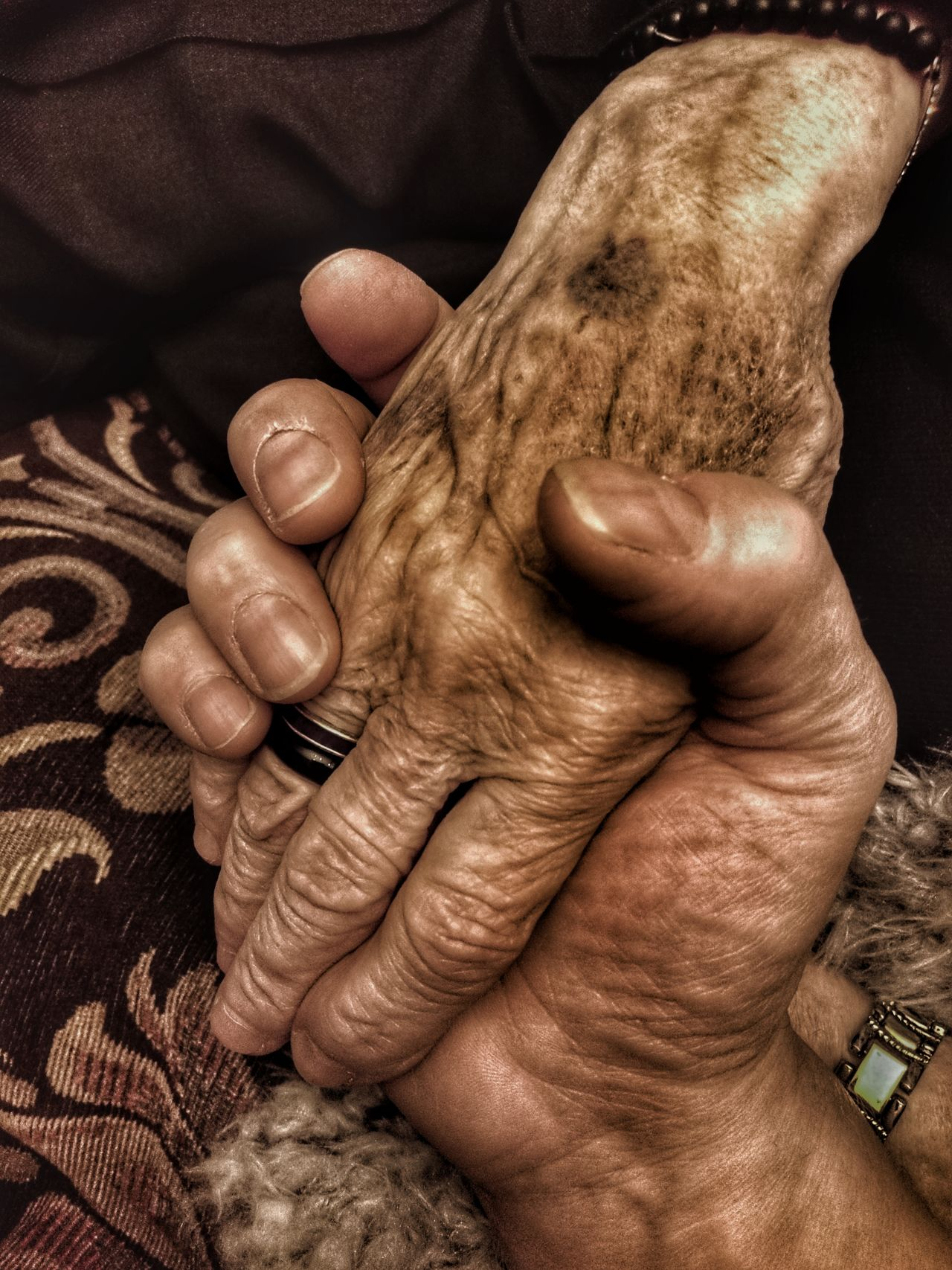 Human Hand Human Body Part Human Finger Togetherness Real People Aged People Adult Olderbeauty My Mothers Hand My Mum ♥  Old But Awesome Age Ageless Fragility Frailty Time To Reflect My Hand  My Mother And I Time Is Precious! Popular Photos For Friends That Connect  82yearsold