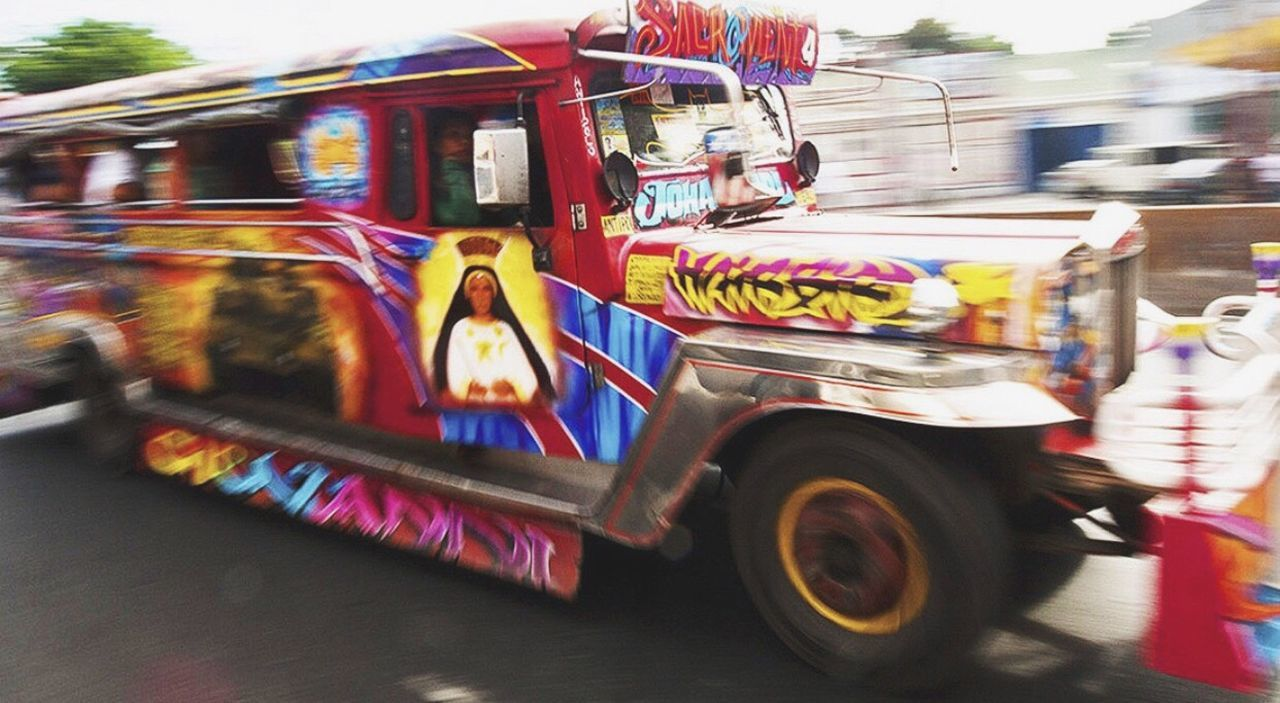 Transportation Manila Blurred Motion Street Jeepney Art Multi Colored Motion Speed Mode Of Transport Road Outdoors Land Vehicle Day City The Street Photographer - 2017 EyeEm Awards