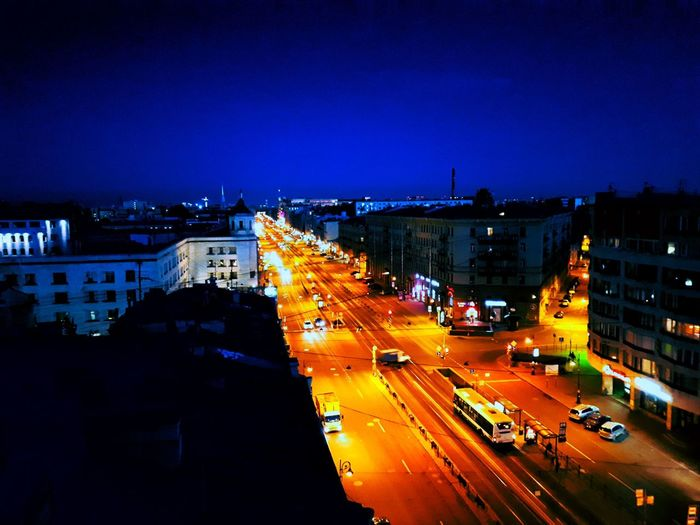 Beautiful night city. In these moments, time stops Night Illuminated Traffic Light Trail Road Speed Transportation High Angle View Long Exposure City Street Rush Hour City Street Car City Life Blurred Motion Outdoors Vehicle Light Cityscape Street Light The Week On EyeEm