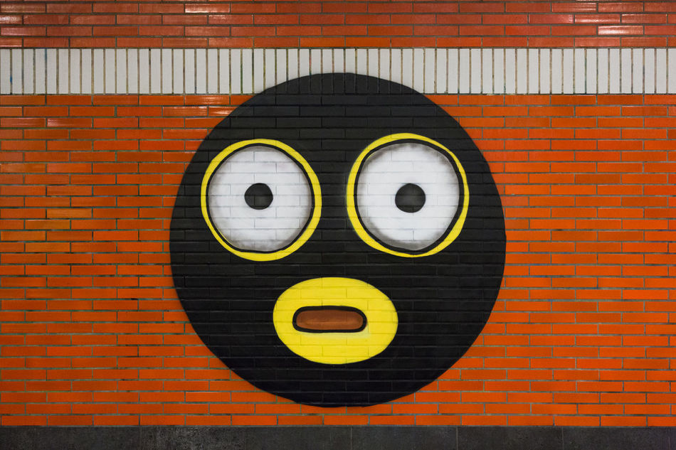 Beautiful stock photos of berliner mauer, anthropomorphic smiley face, anthropomorphic face, close-up, no people
