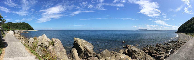 鳴門の海。 右側に見えるのは淡路島 IPhoneography Landscape Panorama 徳島県