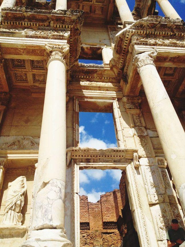 Antique World Heritage Ephesus Ephesus Ruins Summer 2013 Izmir Turkey