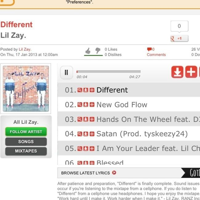 Download The Lil Bro Mixtape Different On Hotnewhiphop