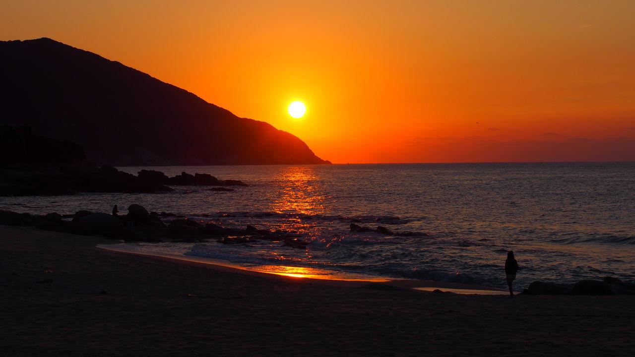 屋久島いなか浜からの夕日☀︎ Sunset_collection 屋久島 (Yakushima Of The World Natural Heritage)