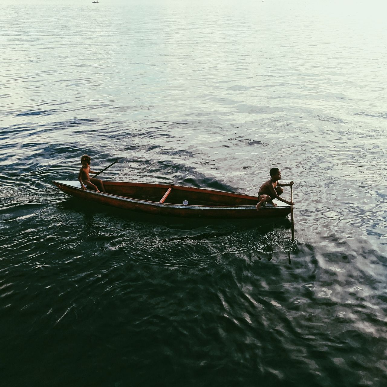 Eyeem Philippines The Great Outdoors - 2017 EyeEm Awards The Photojournalist - 2017 EyeEm Awards The Street Photographer - 2017 EyeEm Awards nautical vessel mobile photography CapturedByZ3N water Transportation mode of transport boat men outdoors real people Nature day occupation Rowing fisherman only men sailing Oar Zamboanga Philippines Nature
