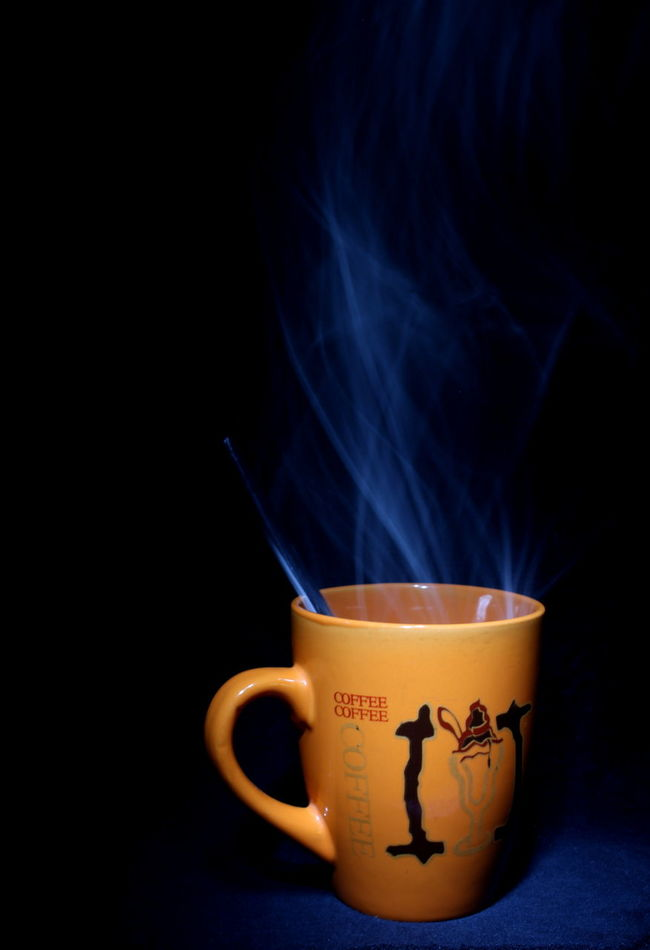 Close-up Creative Light And Shadow Creativity Cup Cup Of Coffee Eyeemph Hotcoffee Lowkey  Smoke Spoon Still Life