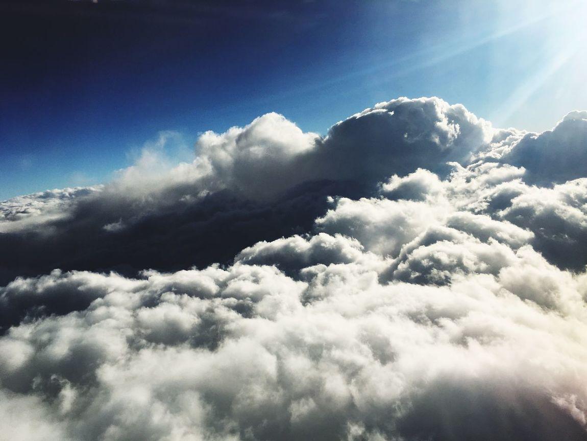 Über den Wolken Cloud - Sky Cloud Lichtblick Fly So High