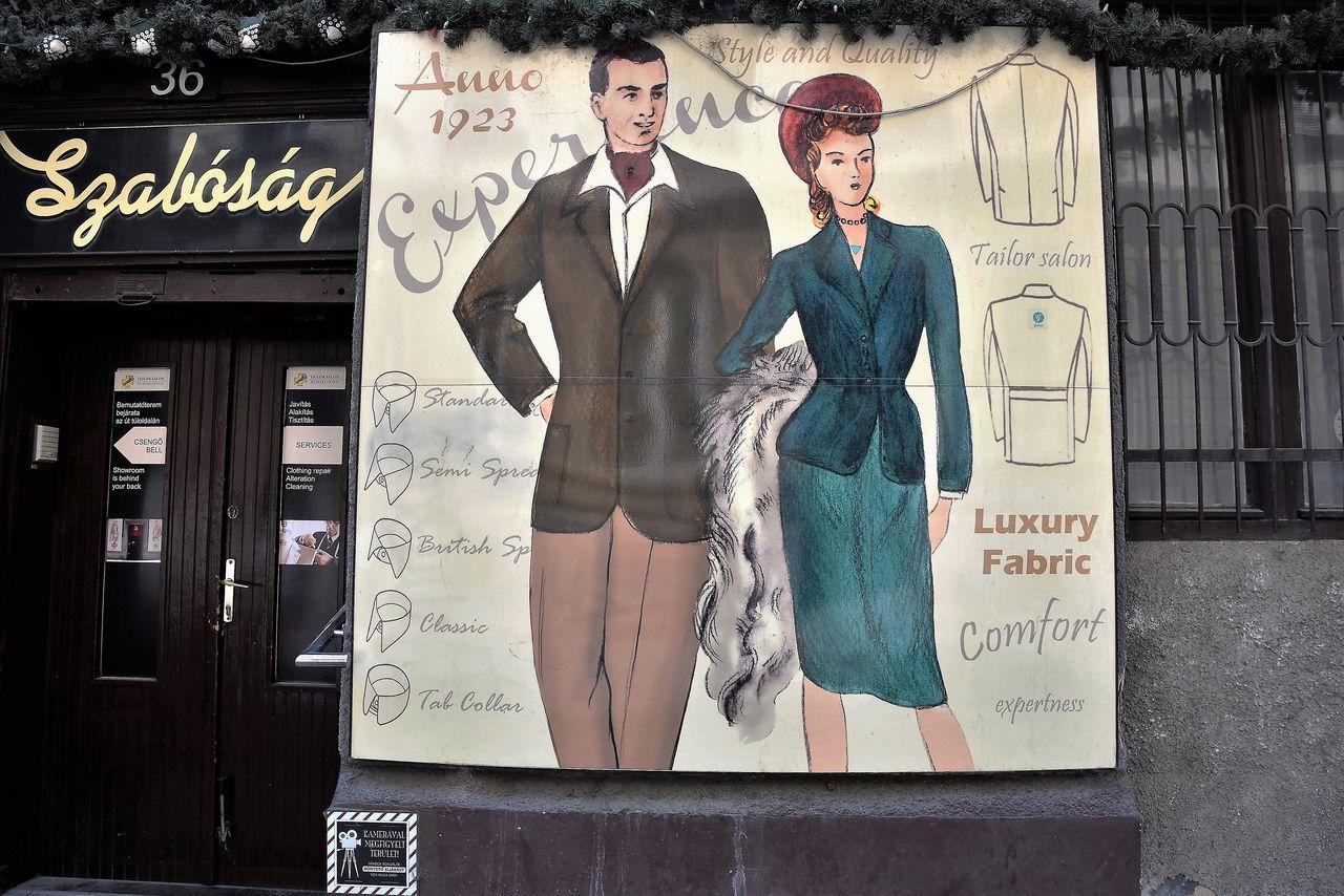 Budapest, Hungary Dienstleistung Gasse Laden Schneider Sewing Stuff Shop Textil Quarter