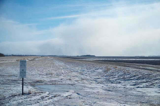 2-12-16 Cold Cold Temperature Fargo FootPrint Horizon Over Water North Dakota Outdoors Perspective Power In Nature Remote Scenics Shore Tranquil Scene Tranquility Water West Fargo