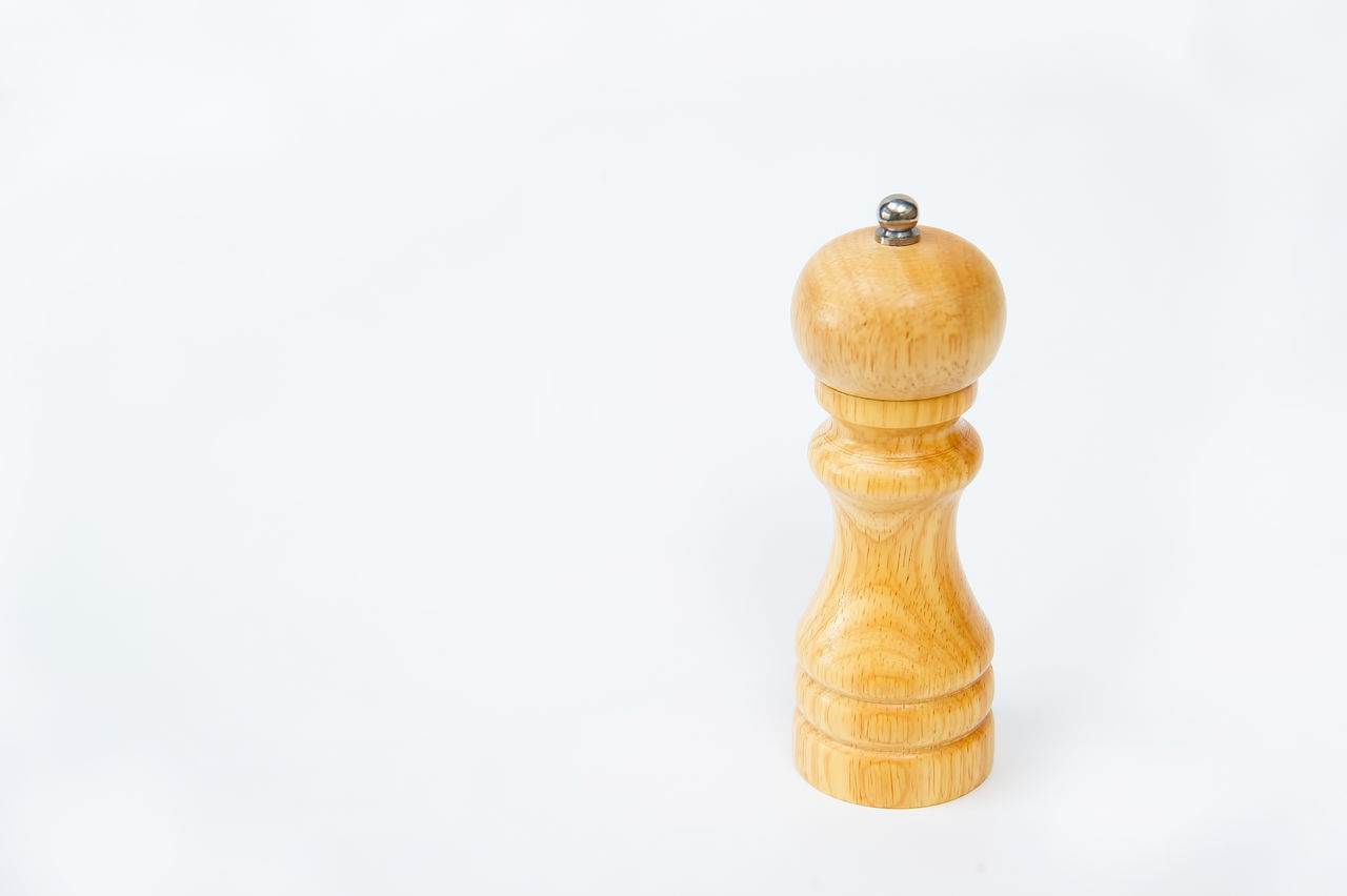 Wooden pepper shaker isolated on white background Bottle Brown Close-up Cooking Copy Space Dinner Food Freshness Grinder Ingredient Kitchenware Mill Pepper PEPPERCORN Restaurant Saltshaker Seasoning Shaker Spice Still Life Studio Shot Traditional Vintage White Background Wooden