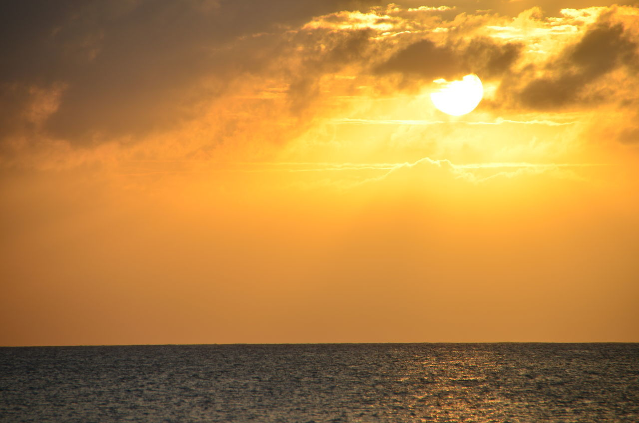 43 Golden Moments Beauty In Nature Caymanislands Horizon Over Water Orange Color Scenics Sea Sunset Water