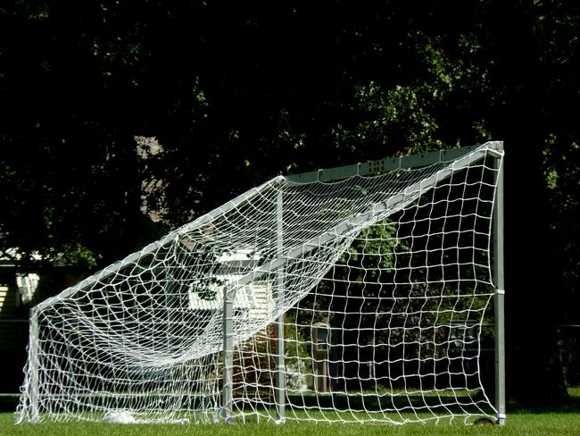 Outdoors Man Made Object Soccer Life Netting Goal Net