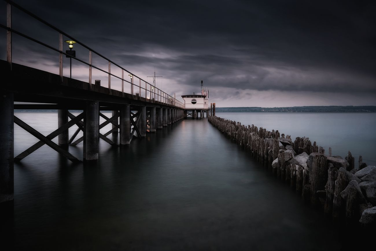Darkness is coming 😉 Sea Water Pier Travel Destinations Cloud - Sky Outdoors Built Structure Horizon Over Water Sky Architecture Harbor Vacations No People Night Beach Scenics Reflection Motion Smooth Taking Photos Fuji Idyllic Long Exposure Fujifilm Mystyle