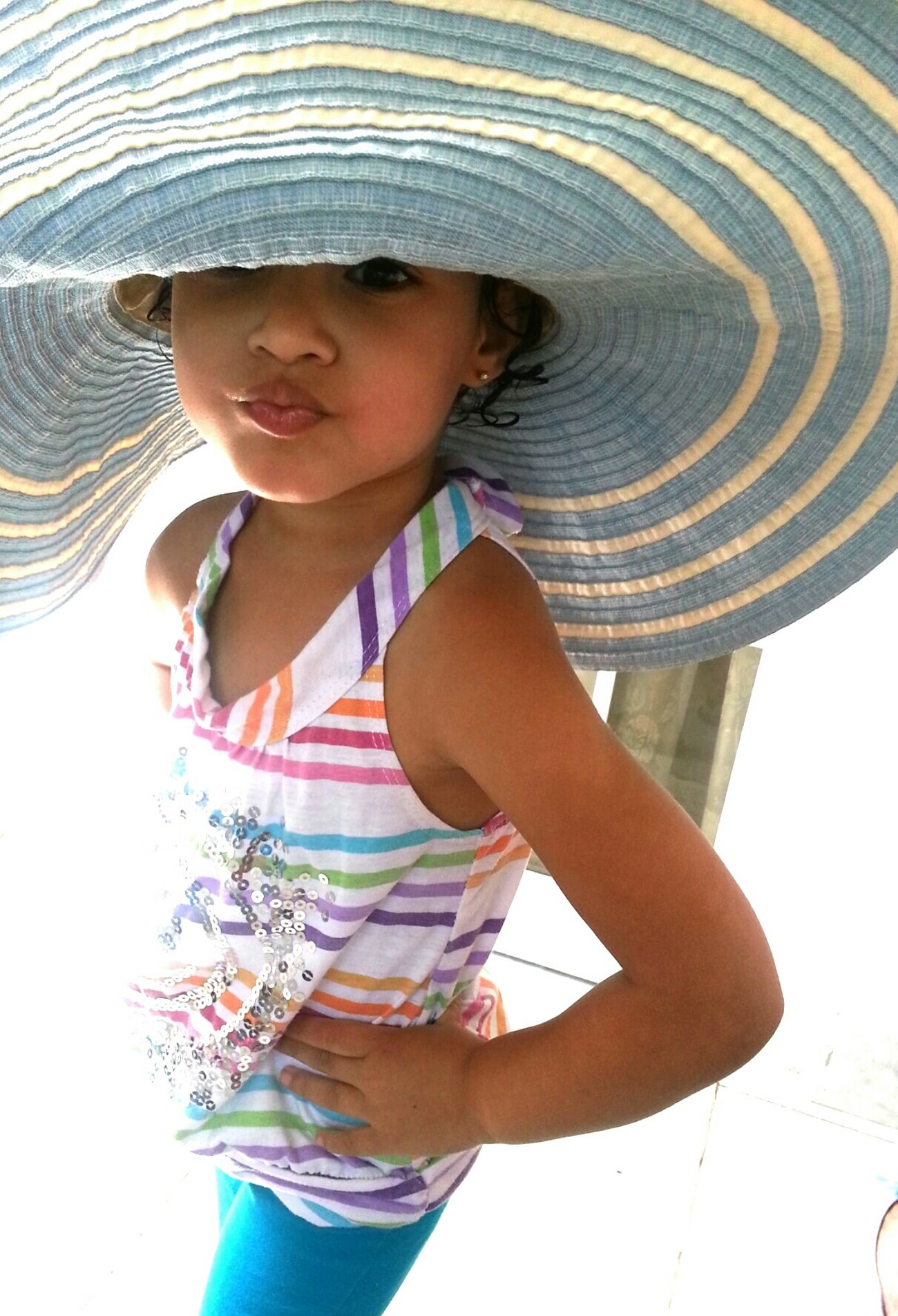 My grown up niece... Children Little Girl Big Hat Fun Cabo Rojo, Puerto Rico, Puerto Rico