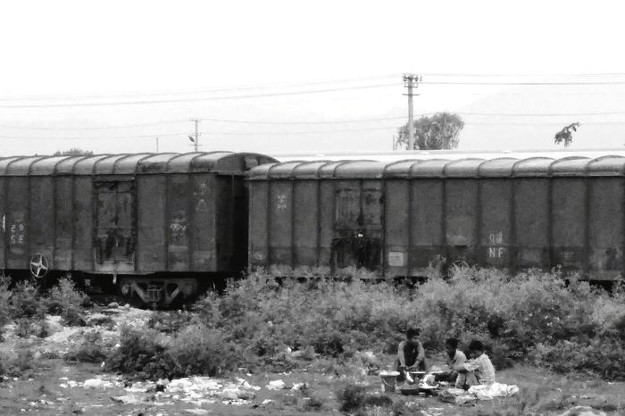 Route Journey Train Outdoors Black And White Returning Home Transportation