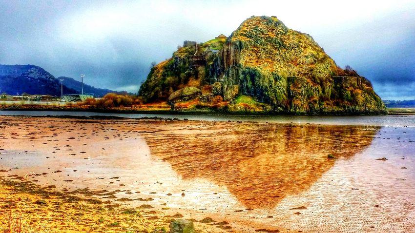 Dumbarton Castle Dumbarton Rock Dumbarton Shore Dumbarton River Clyde River Collection Scotland Reflection Reflections Reflecting