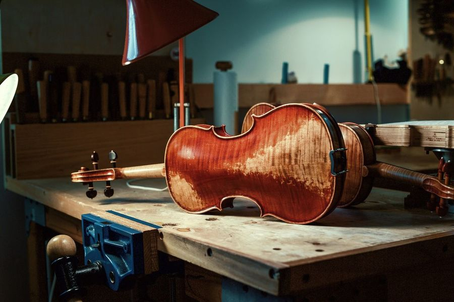 BYOPaper! Wood - Material Table Violin Indoors  Musical Instrument No People Day Close-up Instrument Maker