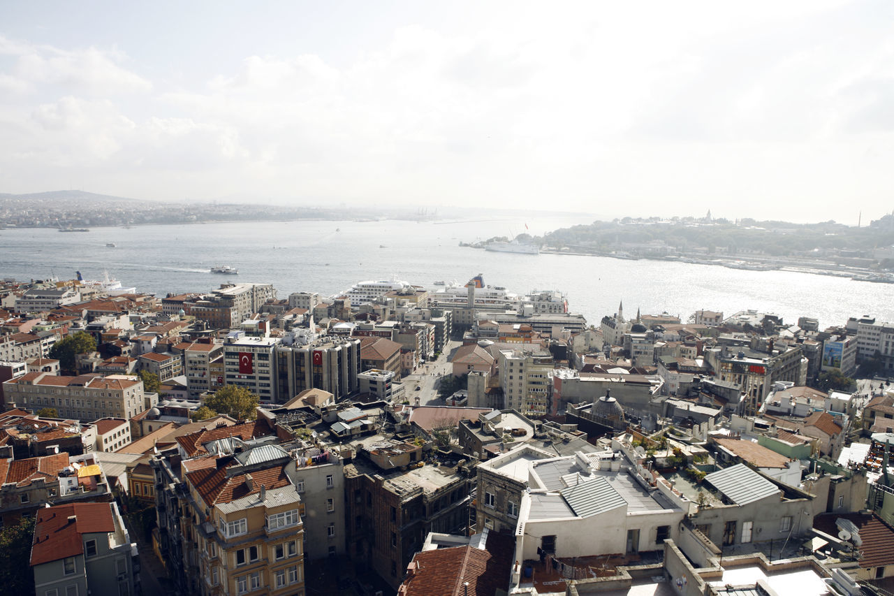 Beautiful stock photos of istanbul, Aerial View, Architecture, Bosphorus, Building Exterior