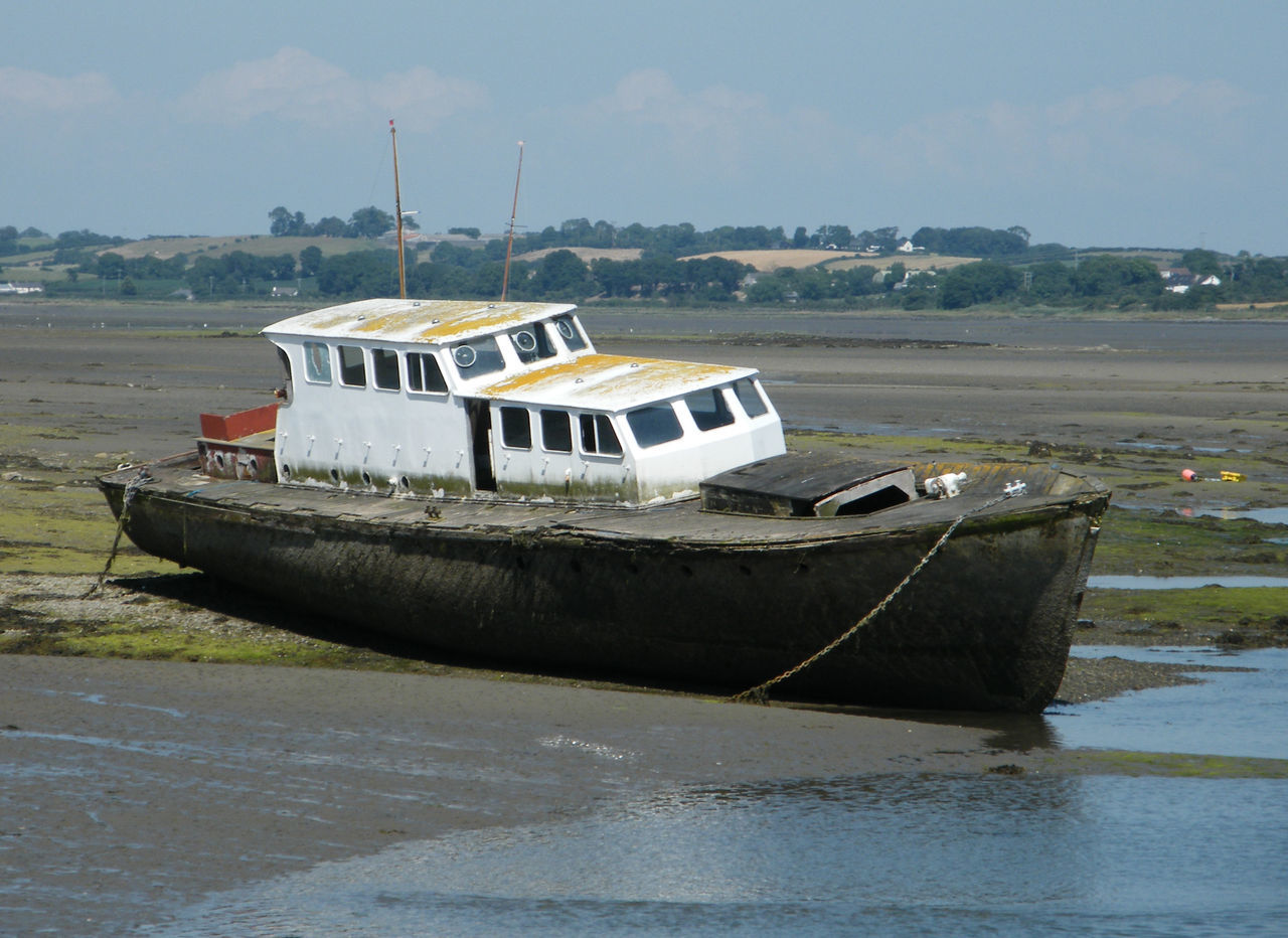 Day Dundrum Mode Of Transport Moored Nature Nautical Vessel No People Northern Ireland Old Boat Old Boats Ruins Outdoors Sky Transportation Water