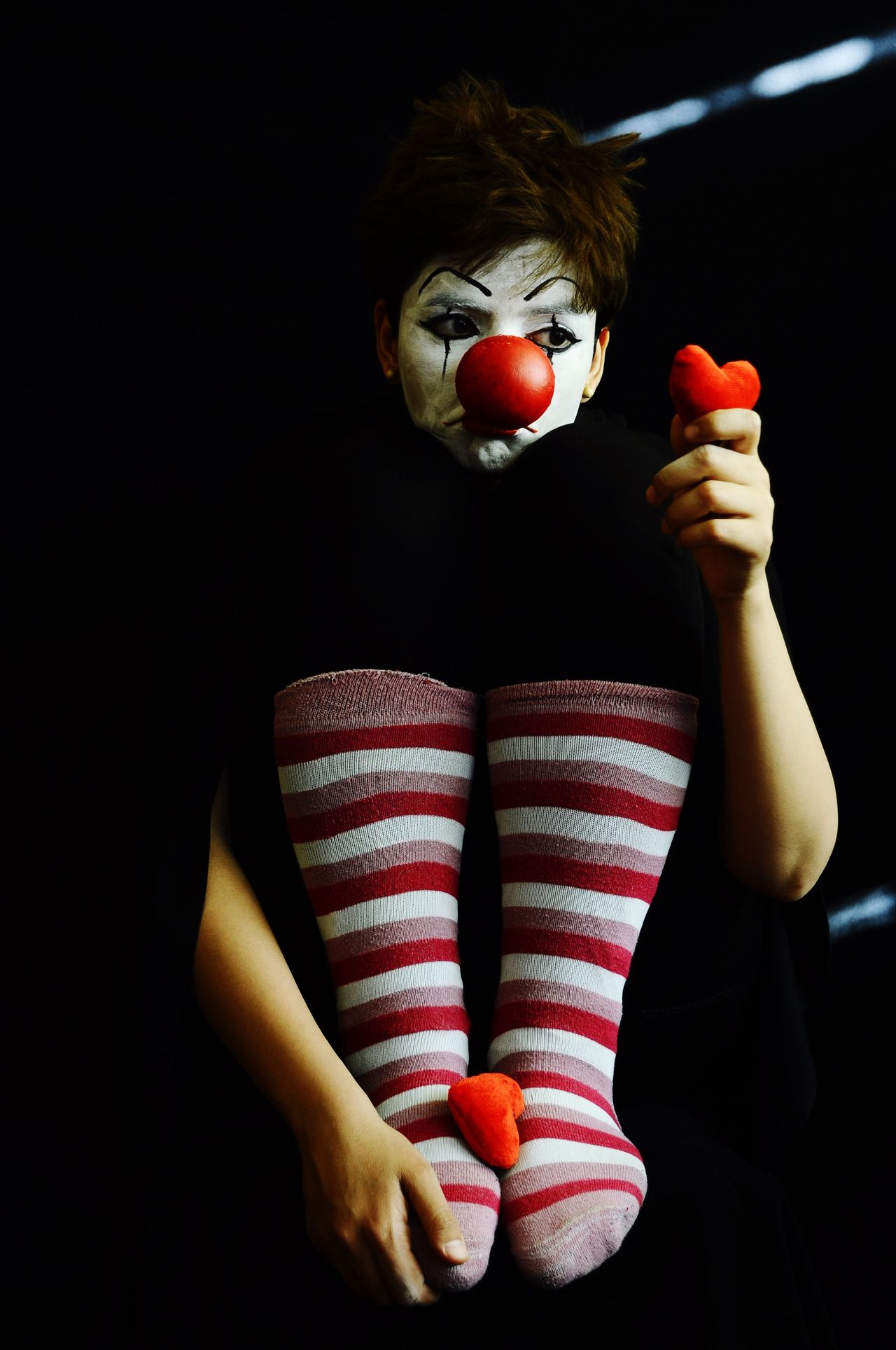 Beautiful stock photos of clown,   Yazd,  20-24 Years,  Arts Culture And Entertainment,  Black Background
