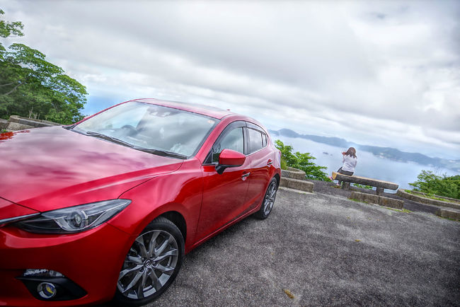 Car Transportation Cloud - Sky Red No People Sky Outdoors Day エンゼルライン HDR HDR Collection HRD Effects Water_collection Sea Landscape Mazda 3