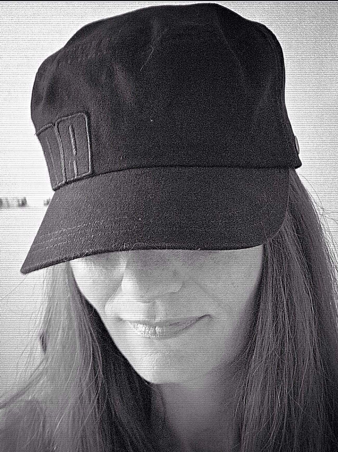 Camillaoceans Selfi I hide sometimes .. I need the silence and nothing more I hide in My cap and I smile .. Its My freedom hiding in public? Tadaa Community Black & White Camillaoceans Photos