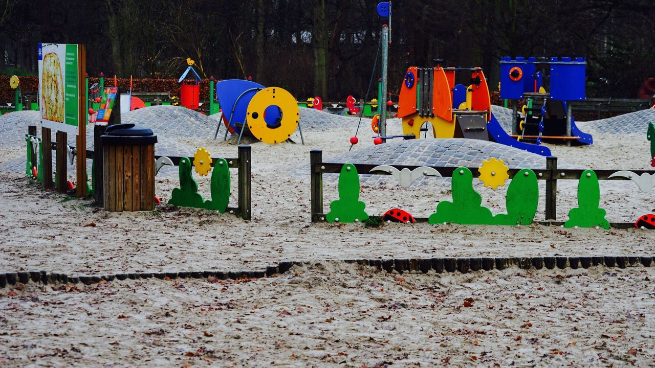 Multi Colored Outdoors Drying In A Row No People Day Variation Working Nature Playing Playtime Playground Playground Equipment Playgrounds Toys Outdoor Photography Park Outdoors Photograpghy