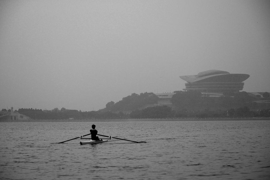 Alternative Fitness... Cayaking at Putrajaya Lake with Putrajaya International Convention Centre Picc at background
