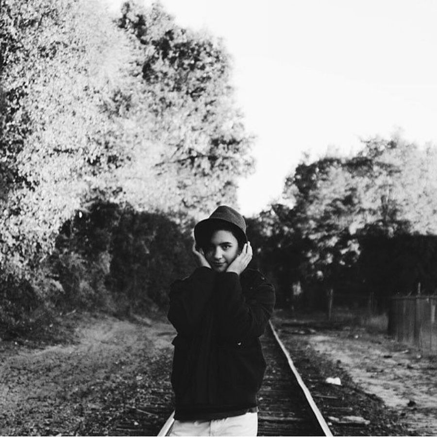 An oldie. Pentaxkr Hat Fedora  Coat Fashion Trees Fall Autumn Traintracks Style Fallfashion  Cold Cool Vscocam Hug Smile Portrait PortraitPhotography Vscovisuals Vscocool Vscoautumn Blackandwhite Bw