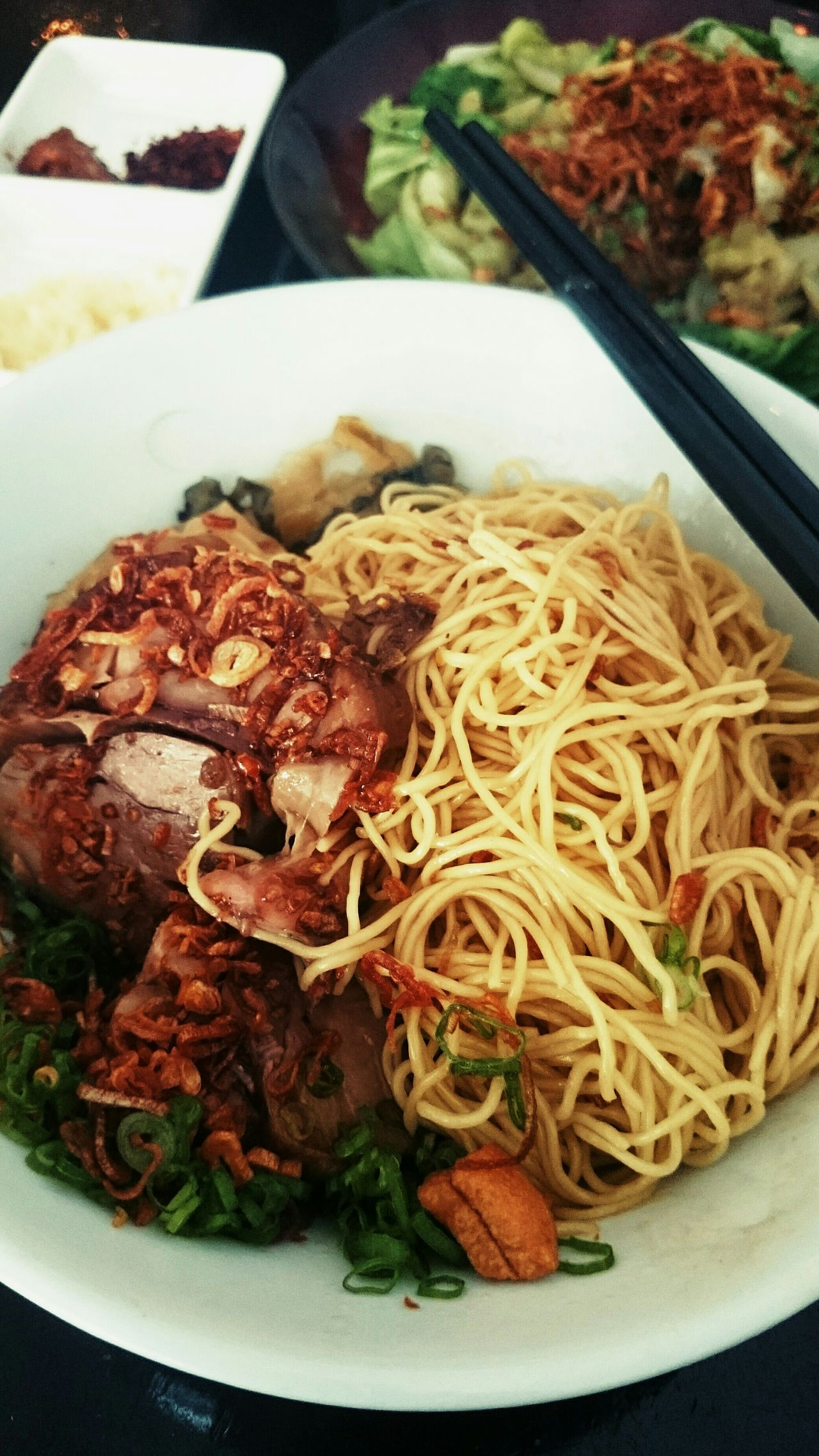 Pig leg noodle.. Food Porn Food Photography First Eyeem Photo Eating Chinese Food Lunch Noodles