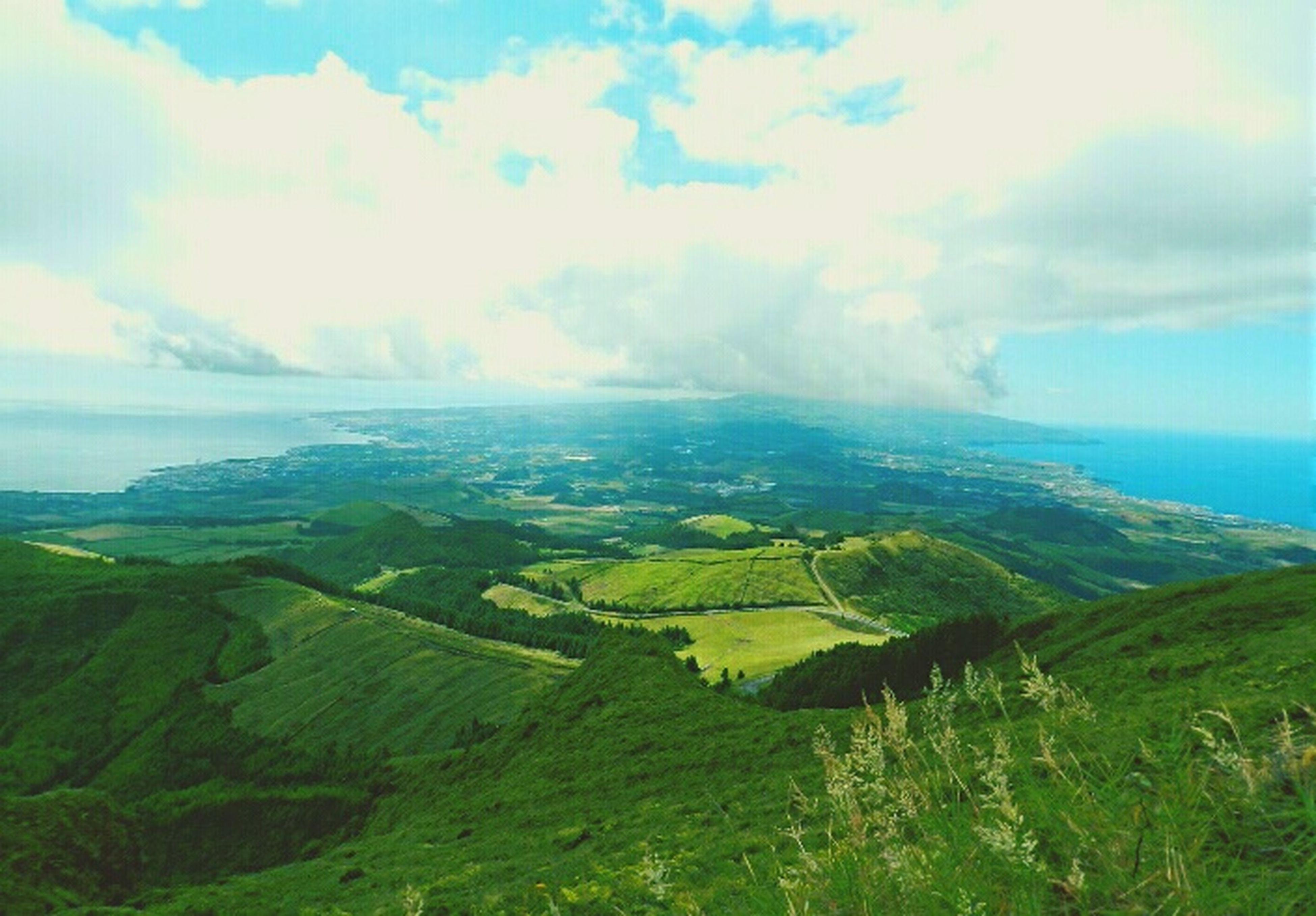 Edge Of The World Cerra Da Agua Alta Lagoadofogo Açores Saomiguel Azores Portugal Hiking Nature