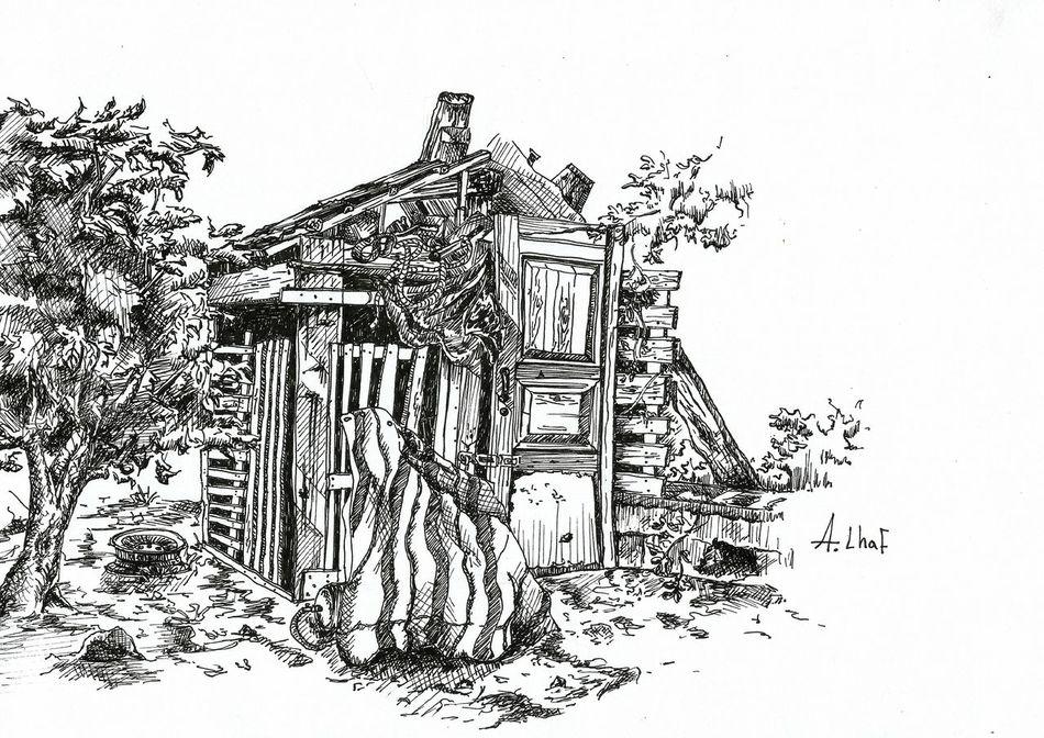 Sketch Drawing Cottage Photography Blackandwhite Art Lineart Photooftheday Nature Lebanon Lebanese