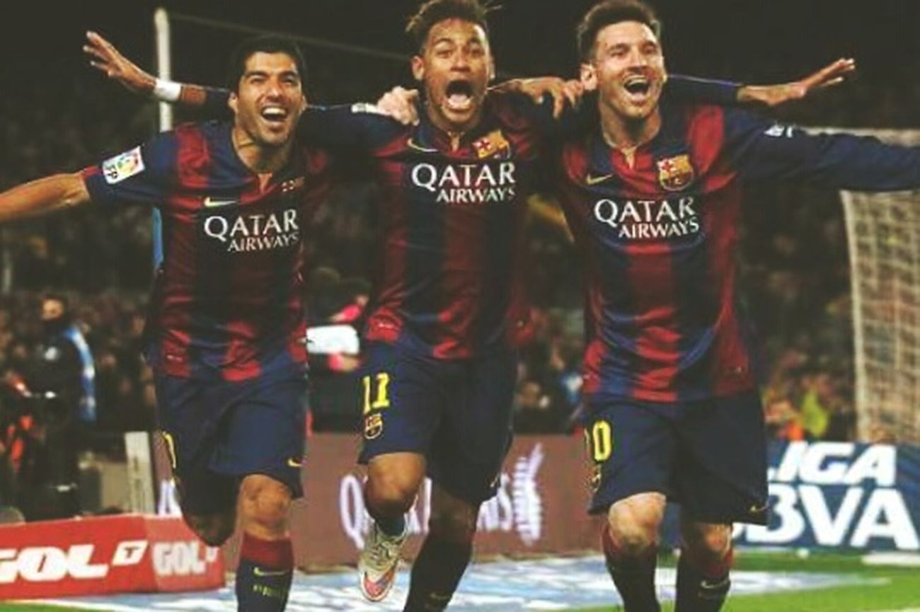 Messi Neymar  Luis Suarez Barcelona