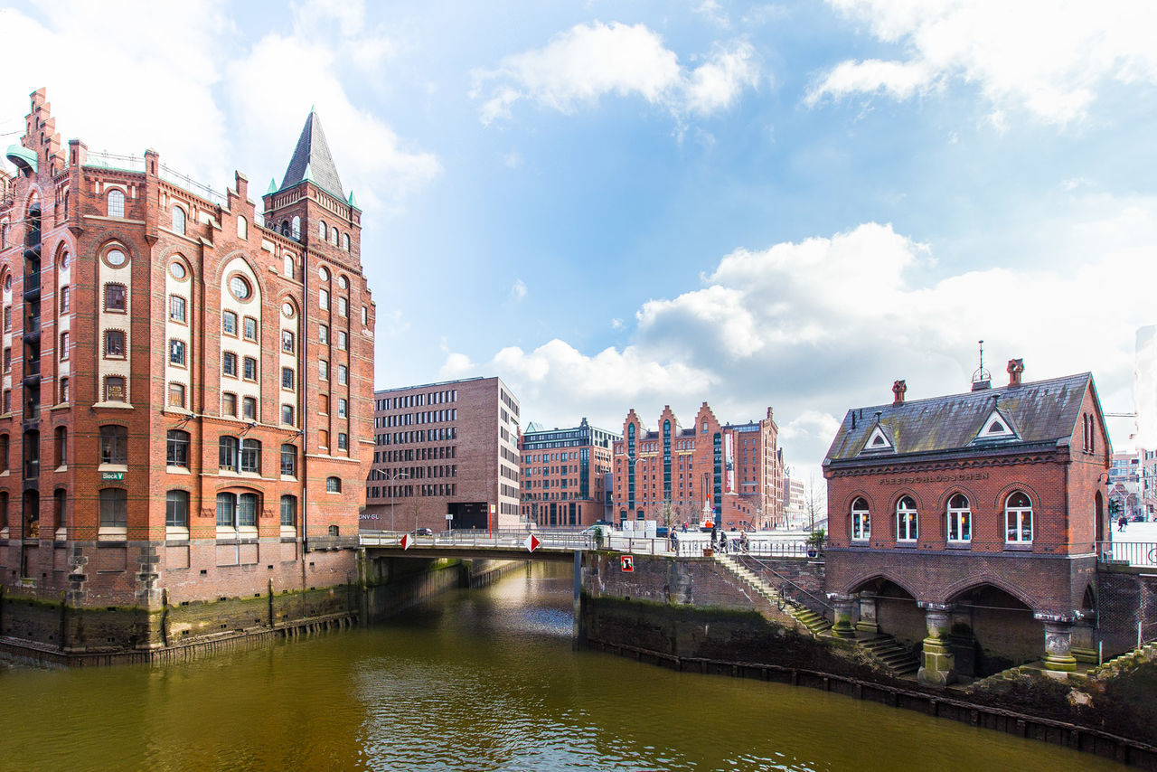 Beautiful stock photos of hamburg, Architecture, Bridge - Man Made Structure, Building, Building Exterior