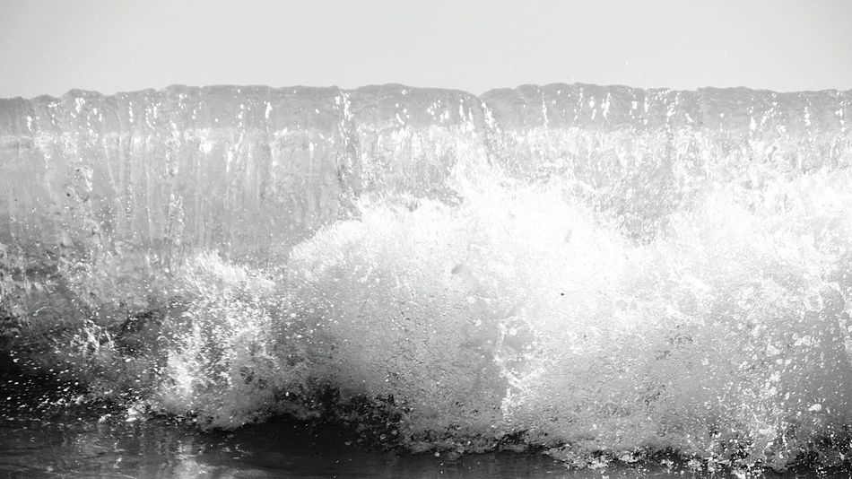 Splash Waves... Water Splash Waves Crashing Black & White Black&white Monochrome Blackandwhite Photography Black And White Watching Waves Being A Beach Bum