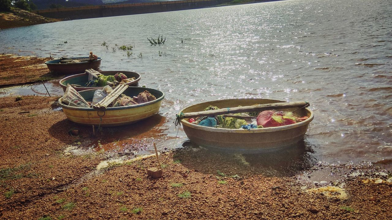 The Beauty of the Tribal Boats speaks about the people living there.Water Outdoors No People Nature Day High Angle View Nautical Vessel First Eyeem Photo Kanyakumari Pechiparai