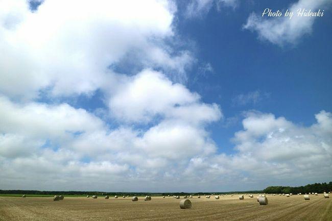 牧草ロール 空 雲 Clouds And Sky