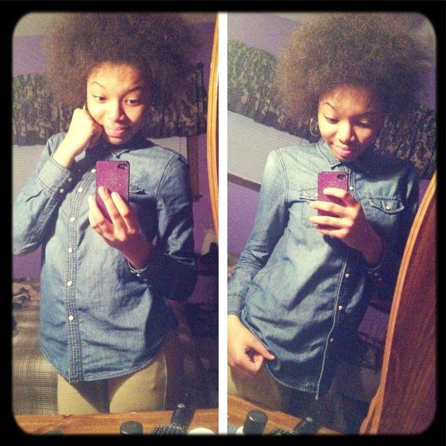 Playing Around W/ My Hair Lol