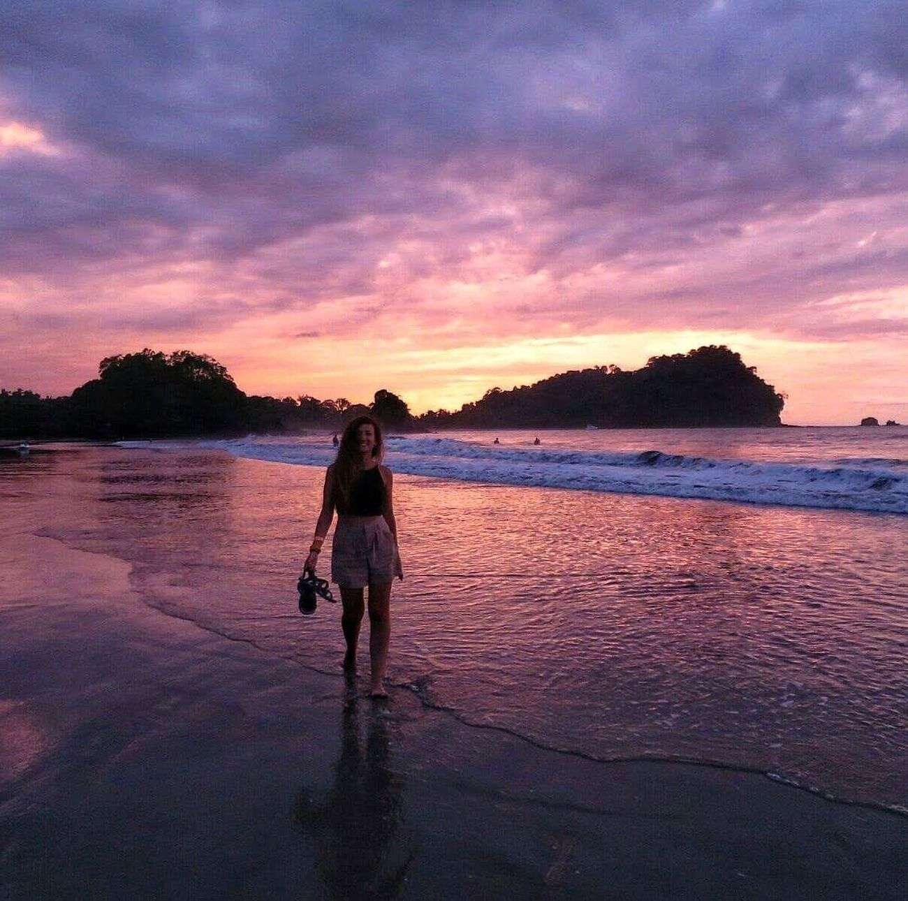 I'm not the same, having seen the moon shine on the other part of the world. Sunset Travel Reflection One Person Sky Full Length Rear View Beach Outdoors One Woman Only Nature People Travel Destinations Sand Cloud - Sky Vacations Beauty In Nature Scenics Travel Girl Pura Vida ✌ Globetrotter First Eyeem Photo Wanderlust Costa Rica Beauty In Nature EyeEmNewHere Mobile Conversations