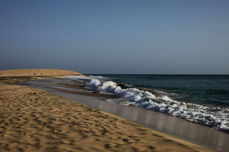 Beach Beauty In Nature Capo Verde Clear Sky Day Horizon Over Water Landscape Nature Outdoors Sal Island Sand Santa Maria Sea Sky Summer 2015 Water Wave