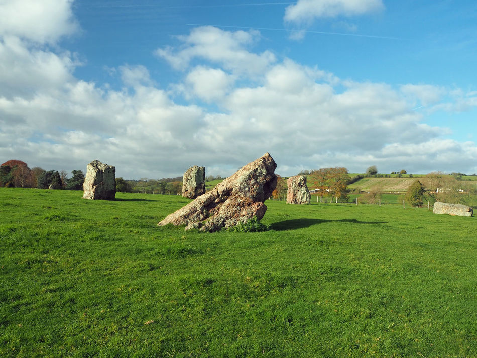 Ancient Bath Bristol Somerset England Stanton Drew Beauty In Nature Cloud - Sky Day Field Grass Green Color Landscape Mystical Place Mythical Nature No People Outdoors Prehistoric Scenics Sky Standing Stones Stone Circle Stones Tranquil Scene Tranquility