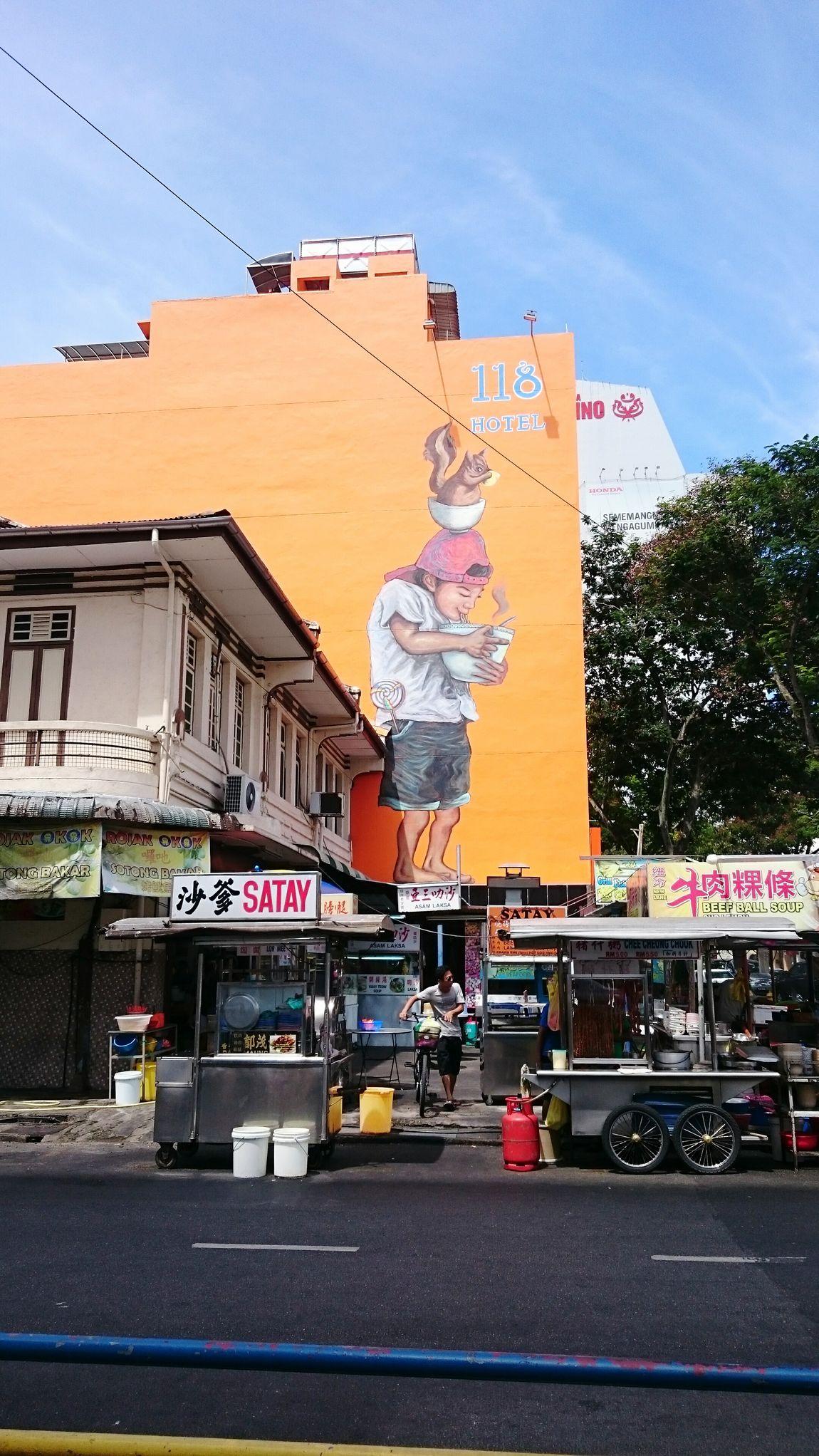 Asian Foods Hawker Food Hawker Centre Penang Macalister Road Penang Streetphotography Streetviews Mural Art Mural Painting Food Stalls