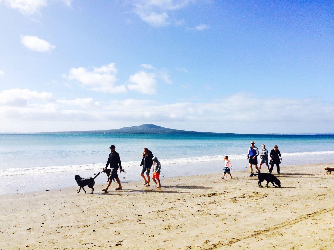 Newzealand Auckland Takapuna Takapuna Beach Beach Rangitoto