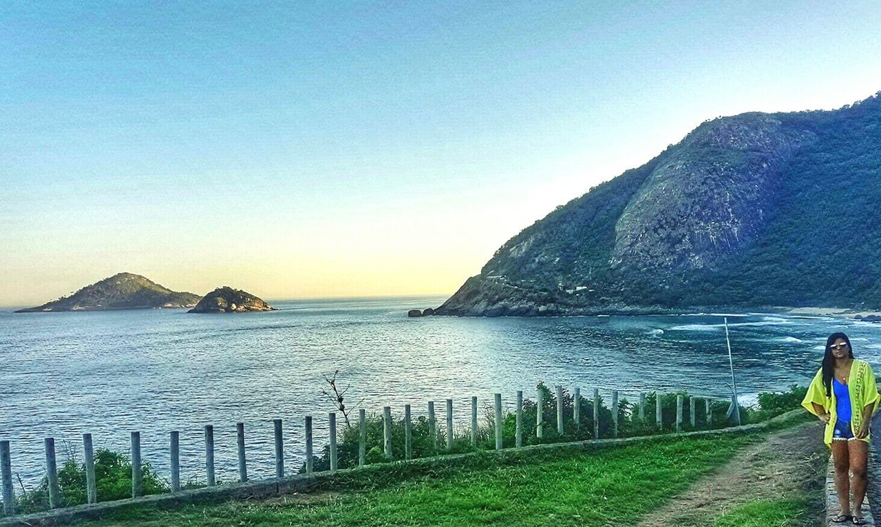 O Rio De Janeiro Continua Lindo 🎶 Clear Sky Sky Day Beach Sunset Summer Water Sea Beauty In Nature Horizon Over Water