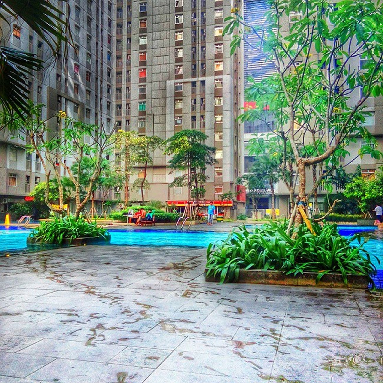Berenang time... Architecture HDR Vivo Snapseed INDONESIA Greenbay Panorama Swimingpool Fresh