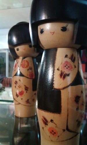 Childhood Close-up Indoors  Cheerful Suit Togetherness No People Savings Day Piggy Bank Japanese  Japan Japan Toys Decoration Wood Muñecas