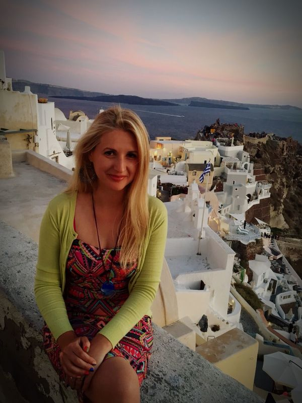 Watching the sunset and shooting a time lapse. From Santorini With Love Self Portrait Hello World