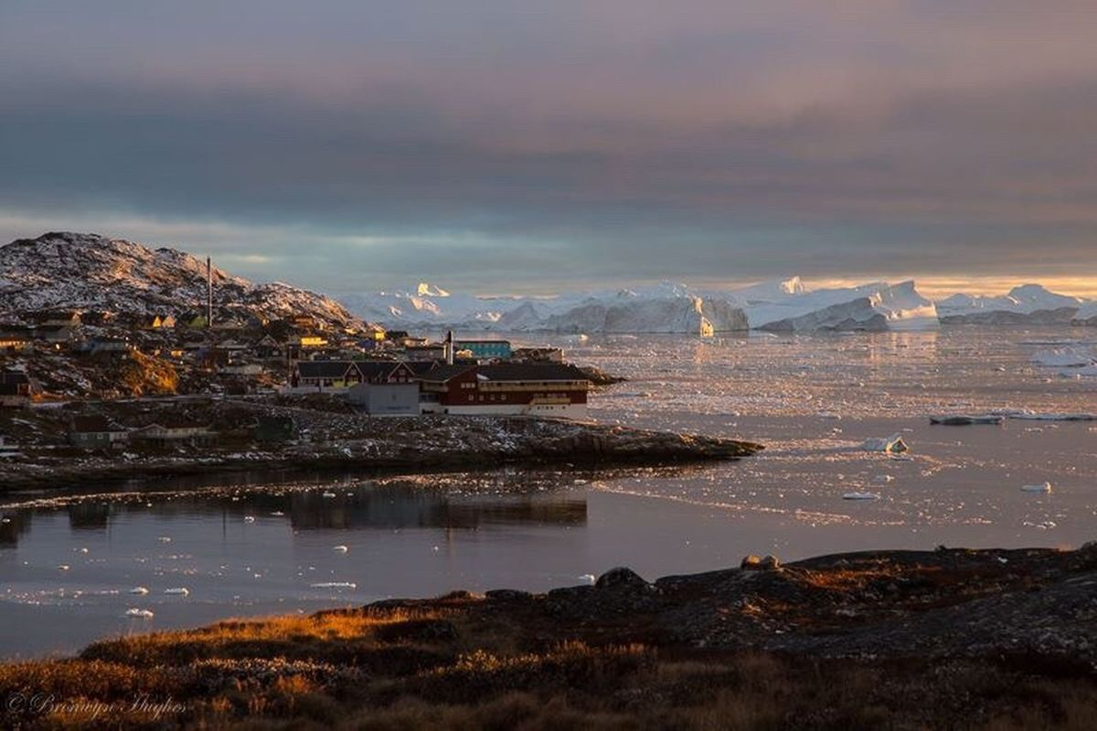 Greenland,ilulissat Ilulissat Greenland Disko Bay Icebergs Iceberg Arctic Arctic Circle Wild North Landscape Scenics Dusk Dusk Sky Landscape Photography Landscapes Travel Photography Travel Travel Destinations